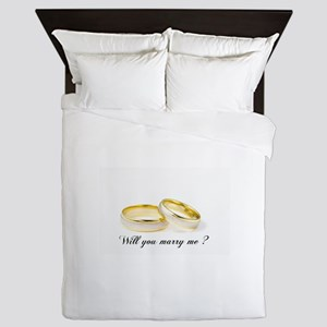 wedding bands Will you marry me? Queen Duvet