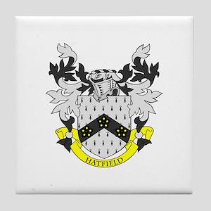 HATFIELD Coat of Arms Tile Coaster