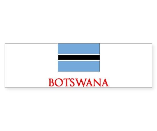 Botswana flag design bumper bumper bumper sticker