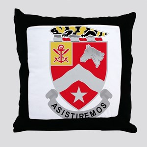 9th Army Engineer Battalion Military Throw Pillow
