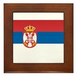 Serbia Flag Framed Tile