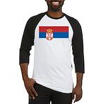 Serbia Flag Baseball Jersey