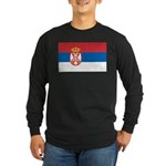 Serbia Flag Long Sleeve Dark T-Shirt