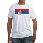 Serbia Flag Fitted T-Shirt