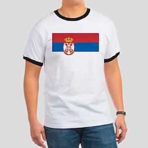 Serbia Flag Ringer T