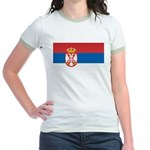Serbia Flag Jr. Ringer T-Shirt