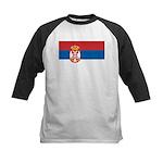 Serbia Flag Kids Baseball Jersey
