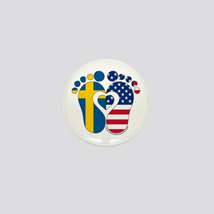Swedish American Baby Mini Button