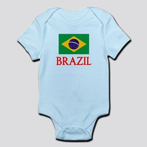 Brazil Flag Design Body Suit
