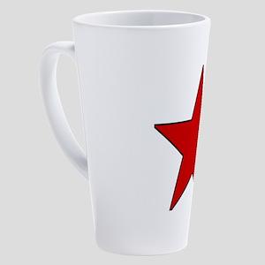 Red Star 17 oz Latte Mug