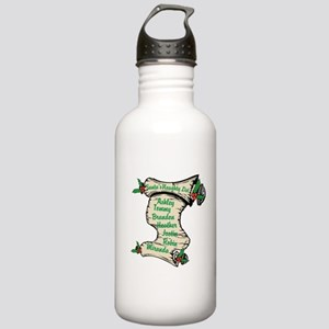 Santas Personalized Naughty List Water Bottle