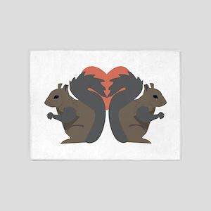 Squirrel Love 5'x7'Area Rug