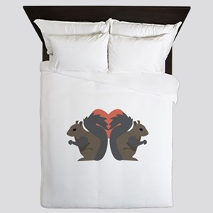Squirrel Love Queen Duvet