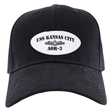 USS KANSAS CITY Black Cap with Patch
