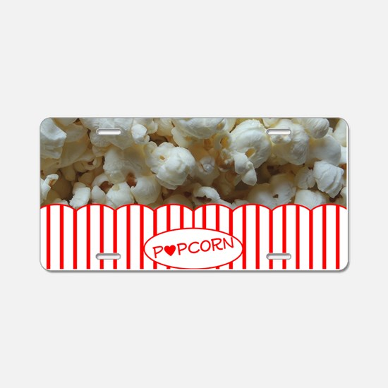 Popcorn Lover Aluminum License Plate