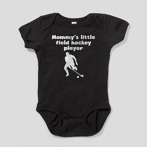 Mommys Little Field Hockey Player Baby Bodysuit
