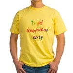 I stopped drinking rainbow Yellow T-Shirt