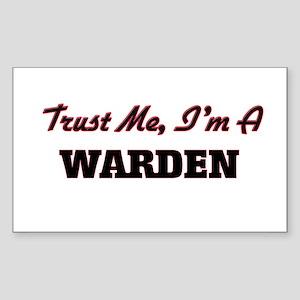 Trust me I'm a Warden Sticker