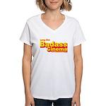 Badass Cinema Women's V-Neck T-Shirt