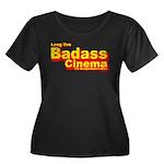 Badass Cinema Women's Plus Size Scoop Neck Dark T-