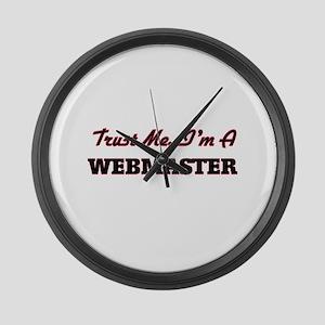 Trust me I'm a Webmaster Large Wall Clock