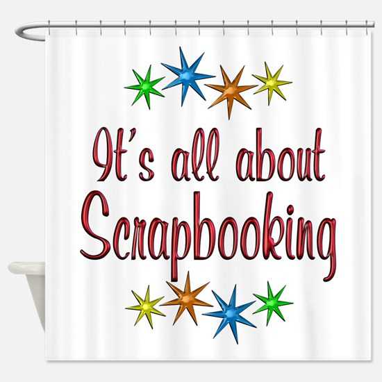 About Scrapbooking Shower Curtain