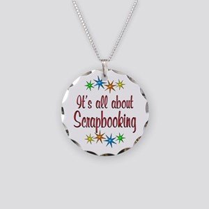 About Scrapbooking Necklace Circle Charm