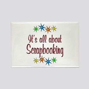 About Scrapbooking Rectangle Magnet