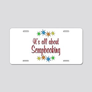 About Scrapbooking Aluminum License Plate
