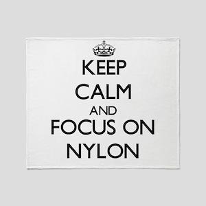 Keep Calm and focus on Nylon Throw Blanket