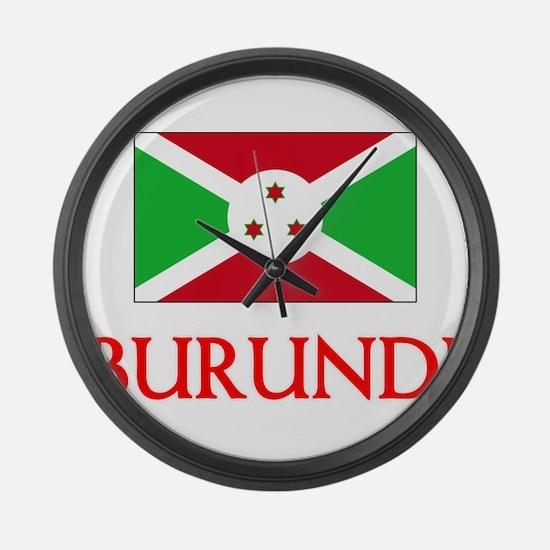 Burundi Flag Design Large Wall Clock