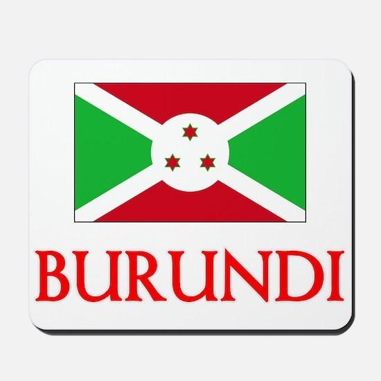 Burundi Flag Design Mousepad