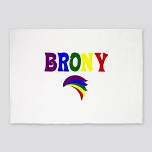 Brony rainbow 329 5'x7'Area Rug