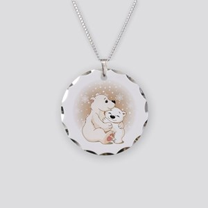 Bear Hugs- Necklace Circle Charm