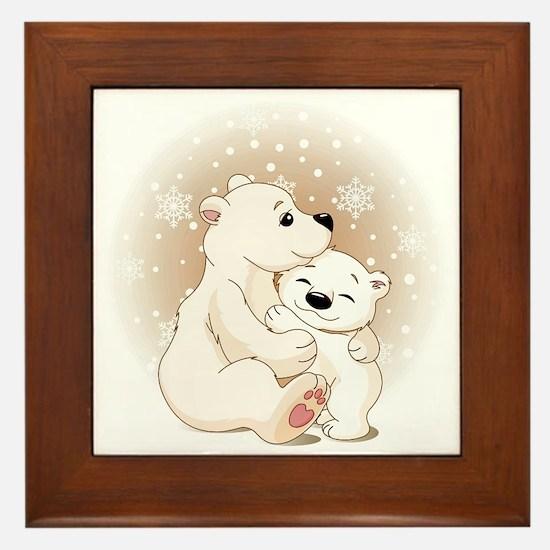 Bear Hugs- Framed Tile
