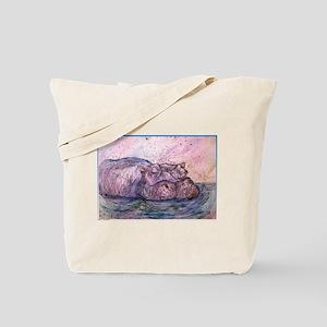 Hippo, wildlife art Tote Bag