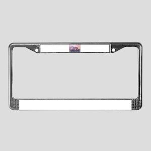 Hippo, wildlife art License Plate Frame