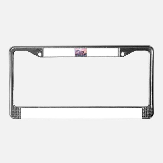 Hippo, wildlife art License Plate Frame