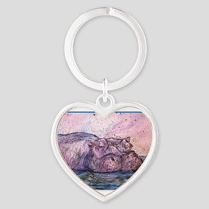 Hippo, wildlife art Keychains