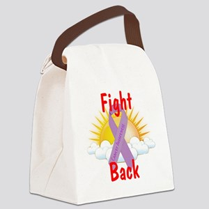 Fight Back Cancer Awareness Canvas Lunch Bag
