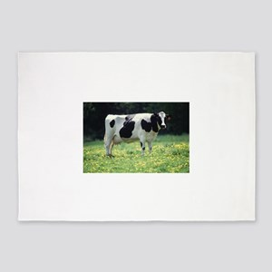 Cow 5'x7'Area Rug