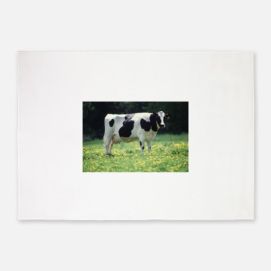 Cow 5'x7'Area Rug