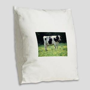 Cow Burlap Throw Pillow