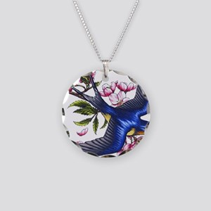 swallow Necklace Circle Charm