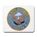 USS BARTON Mousepad