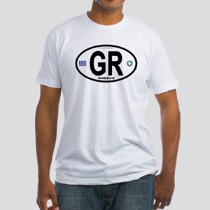 Greece Intl Oval Fitted T-Shirt