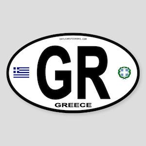 Greece Intl Oval Oval Sticker