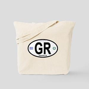 Greece Intl Oval Tote Bag