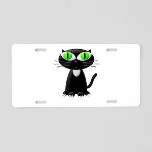 Cute Black Kitten Aluminum License Plate