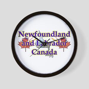 Newfoundland and Labrador Wall Clock
